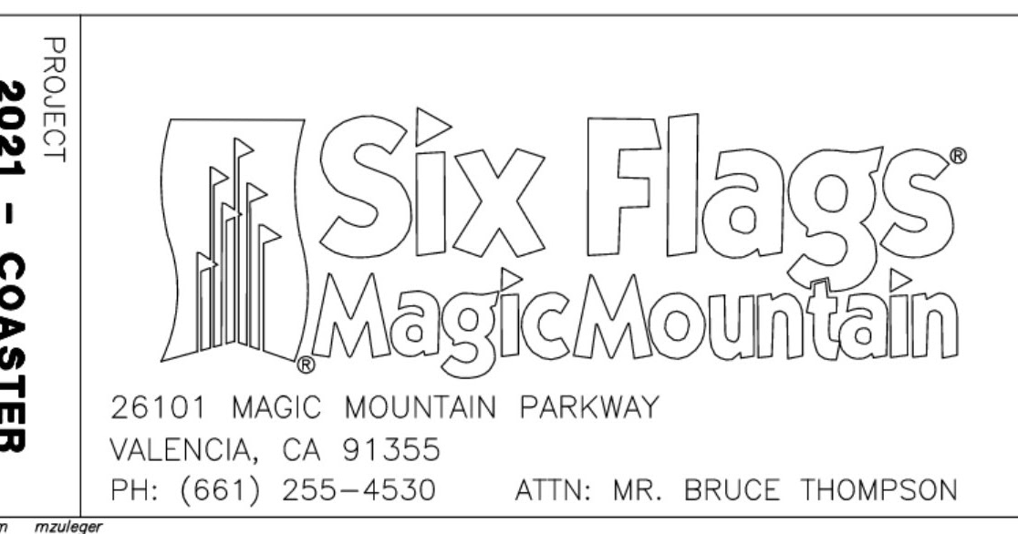 NewsPlusNotes: Six Flags Magic Mountain Files Plans for