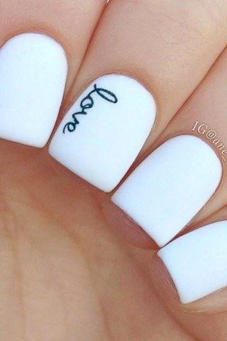 uñas blancas