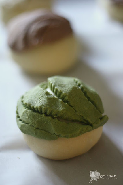concha dough and sugar shell