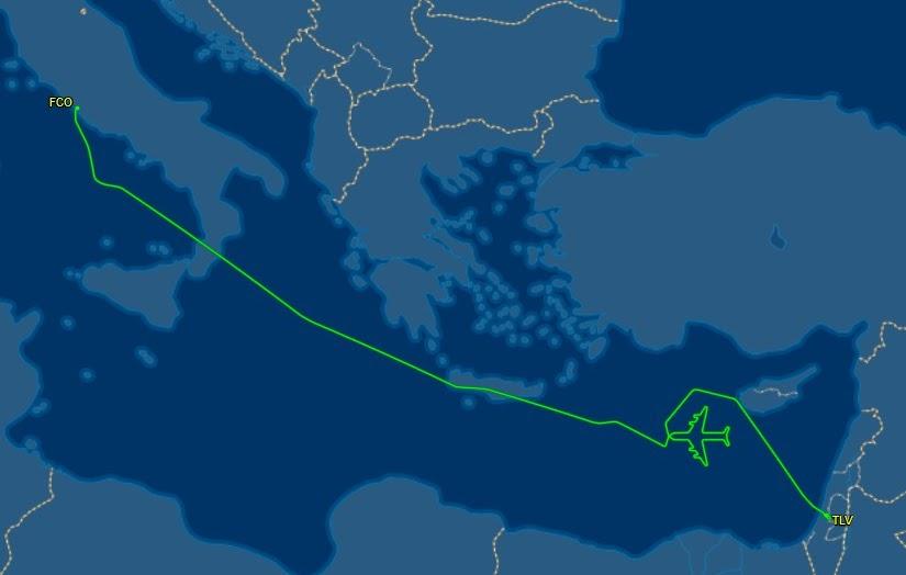엘알 B747 마지막 비행편에서 그린 자화상