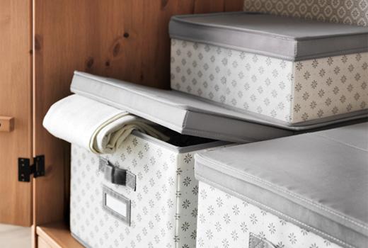 Davinia voga objetivo cambio de armario for Cajas para guardar ropa armario