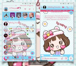 Anime Girl Theme For YOWhatsApp & KM WhatsApp By Thania