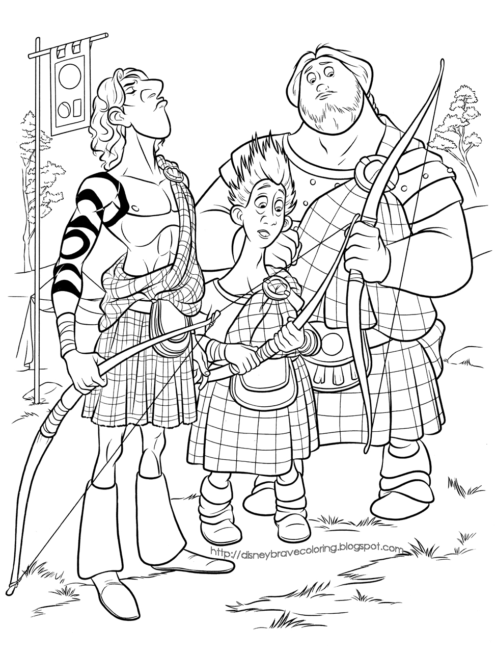 A crafty chick brave birthday party for Merida coloring pages