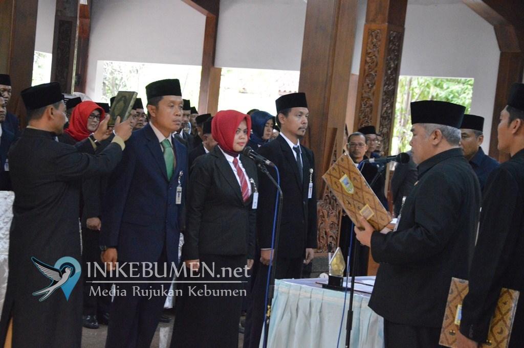 Lantik 84 Pejabat Struktural, Wakil Bupati Kebumen Minta Langsung Bekerja Cepat