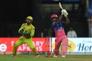 आइपीएल 2020 का चौथा मुकाबला राजस्थान रॉयल्स और चेन्नई सुपर किंग्स के बीच खेला गया। इस मुकाबले में राजस्थान की टीम ने चेन्नई को 16 रन से हरा दिया।