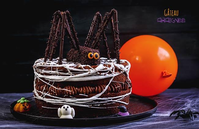 gateau halloween araignée