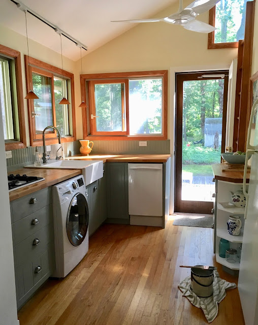 painted cottage kitchen cabinets