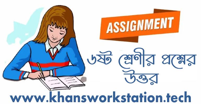 Class 6 Assignment 2021 Answer