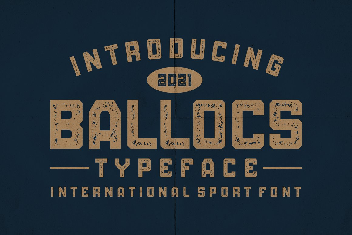 BALLOCS Font - Free Display Sport Typeface