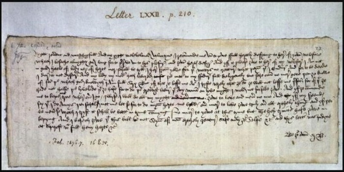 The earliest known valentine's day letter