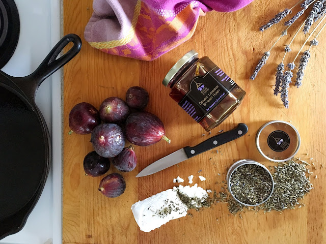 Lavender Honey and Goat Cheese with Figs Recipe from Pelindaba Lavender Farm