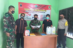 Danramil Wonosari Cek Kesiapan Posko PPKM Mikro Di Wilayah Binaan