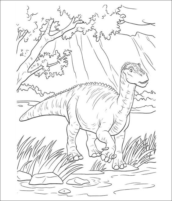 Dinosaurs coloring pages 28