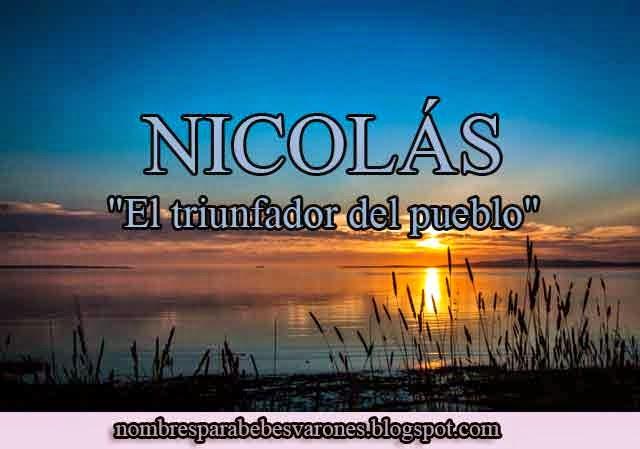 significado del nombre nicols nombres bblicos
