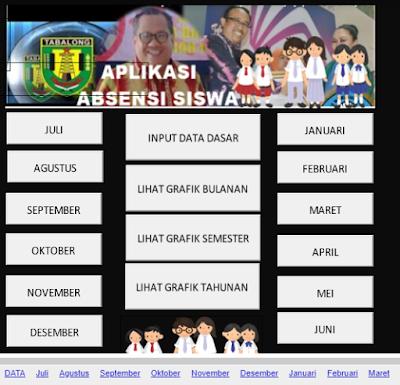 Unduh Aplikasi Absensi Siswa SD SMP SMA Lengkap Dengan Grafiknya