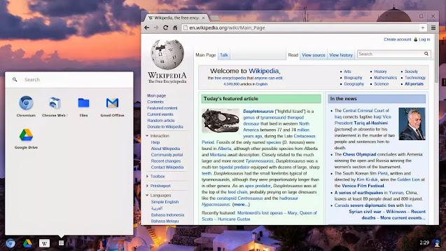 Screenshot of Chromium OS