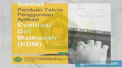 Download Juknis Panduan Penggunaan Aplikasi Evaluasi Diri Madrasah (EDM) I PDF