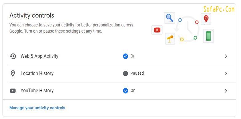 اغلاق ميزة تتبع معلومات الموقع الخاصة بي على خرائط جوجل
