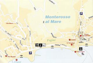 Mapa de Monterosso al Mare.