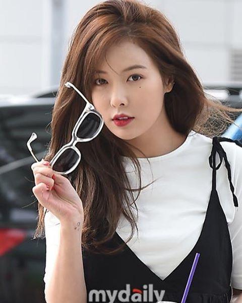 Hyuna 4Minute Senang Disambut Penggemar Saat Tiba di Bali