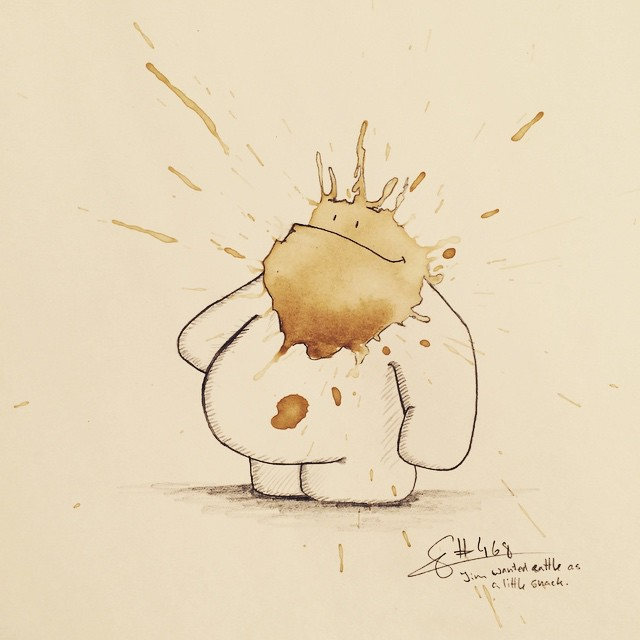 15-Jim-Stefan-Kuhnigk-Monster-Drawings-within-Coffee-Stains-www-designstack-co
