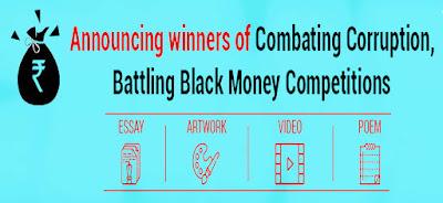 Winner Announcement of Battling Black Money Corruption Contest