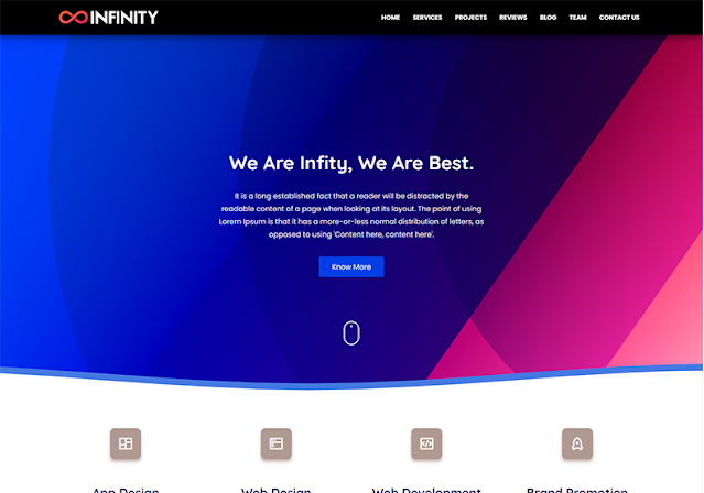 Infinity Blogger Template