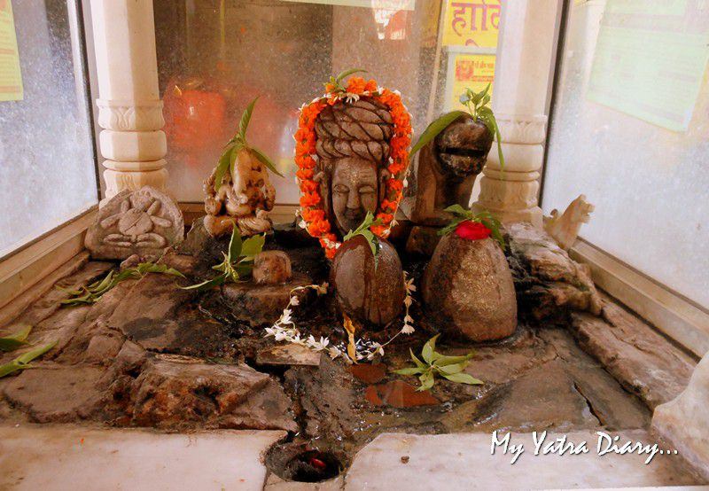 Ancient Shiva at the ShaktiSthal Jeen Mata Mandir Sikar Rajasthan