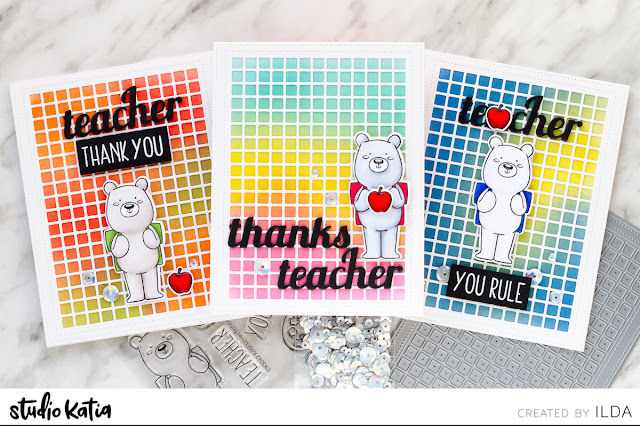 Simple Teacher Thank You Cards Done 3 Ways | Studio Katia by ilovedoingallthingscrafty.com