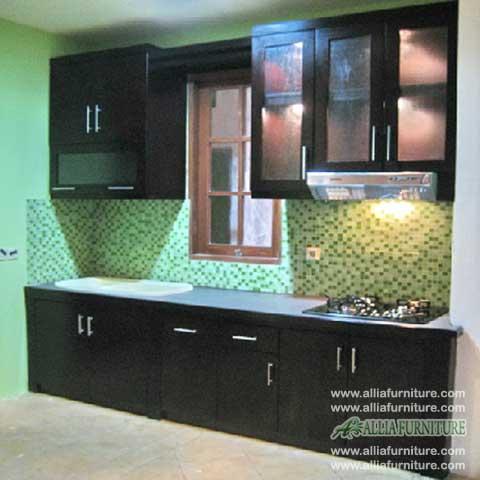 kitchen set single line minimalis rain