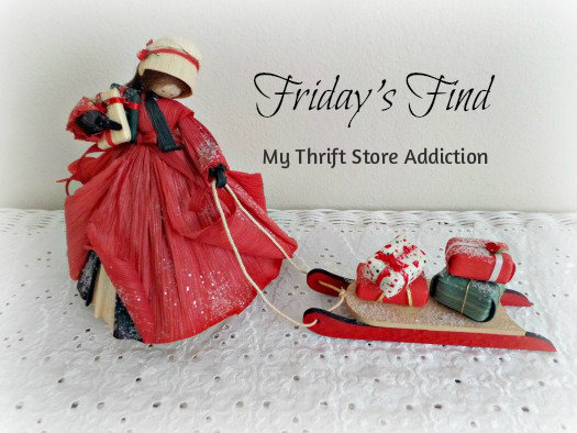 Friday's Find: Collectible Corn Husk Dolls mythriftstoreaddiction.blogspot.com Vintage Nan's Christmas Shopper