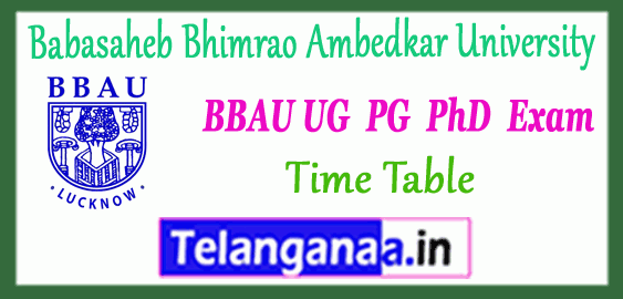 BBAU Babasaheb Bhimrao Ambedkar University Lucknow UG PG M.Phil PhD Counseling Time Table