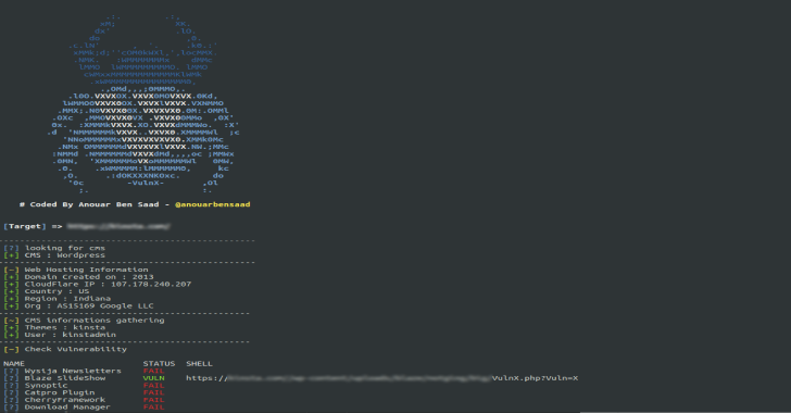 Vulnx : Auto Shell Injector That Detect Vulnerabilities In Multiple Types Of CMS
