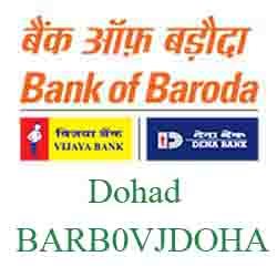 Vijaya Baroda Bank Dohad Branch New IFSC, MICR