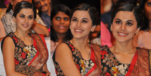Taapsee Stills at Anando Brahma Pre-Release Event