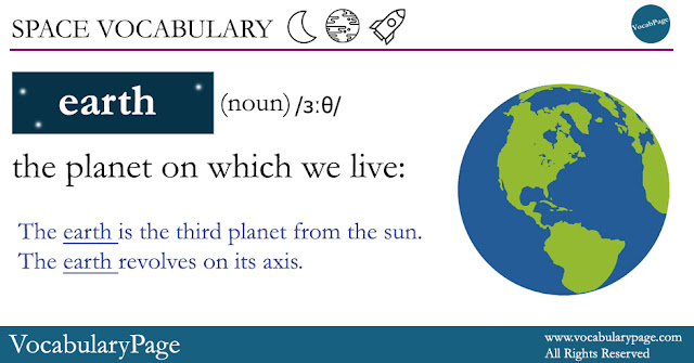 Space Vocabulary - Earth
