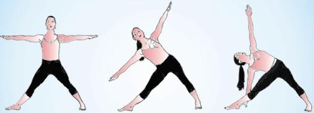 திரிகோணாசனம் - யோகா - trikonasana - yoga.