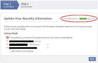 Update Your Security Information - Add contact email addresses