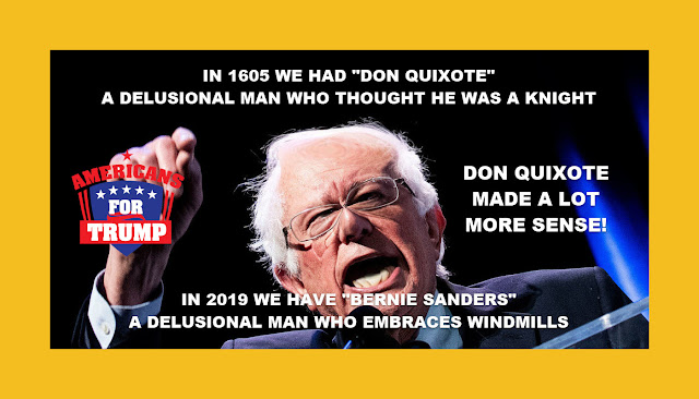 "Memes: IN 2019 WE HAVE ""BERNIE SANDERS,"" A DELUSIONAL MAN"