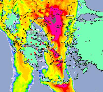 2 - Συννεφιές και βροχές την Δευτέρα και Τετάρτη σε μεγάλο μέρος της χώρας (+XAΡΤΕΣ ΥΕΤΟΥ)