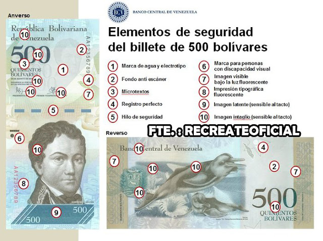 BILLETE 500 BS