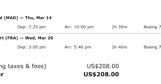 Hurry! LATAM 787 Business Class for $208