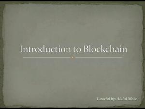 COURSE GRATIS : Introduction to Blockchain: Quick Guide Exploring Blockchain