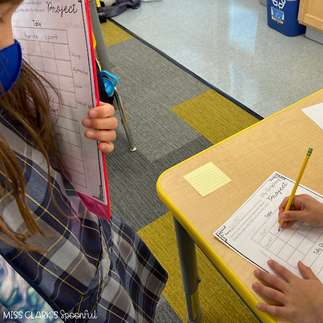 data and graphing second grade activity