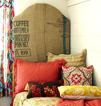 Cosas de palmichula decorar con tela de saco arpillera lino r stico - Facilisimo decoracion cortinas ...
