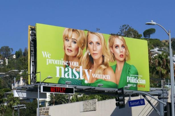 Politician promise nasty women billboard