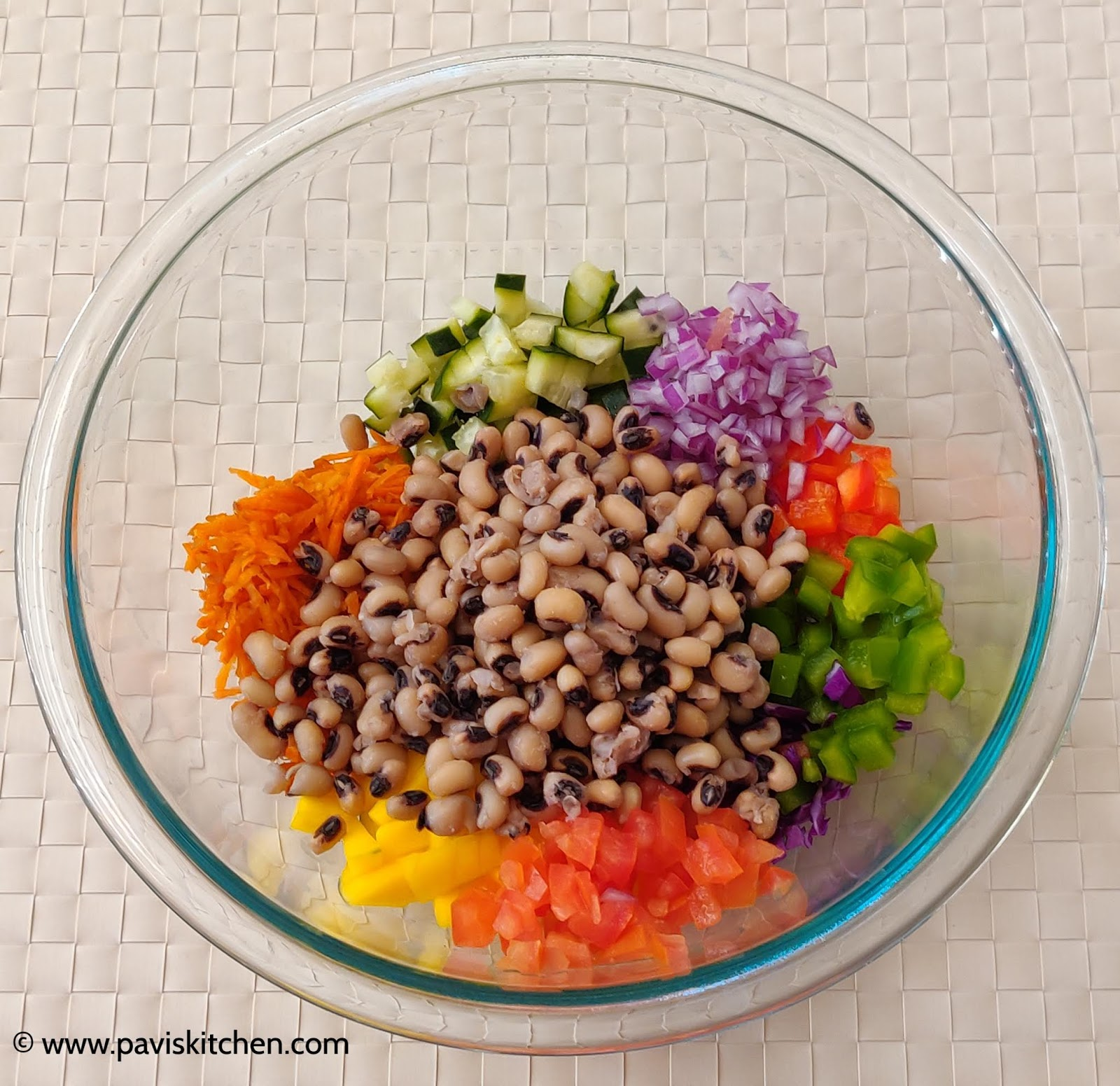 Black Eyed Bean Salad | Lobia Chaat | Karamani Salad