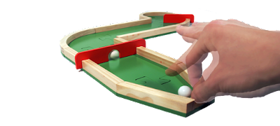 Pitch & Plakks indoor miniature golf game