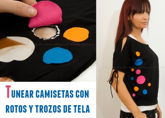 camisetas, shirts, customizar, fashion, apliques, bricomoda