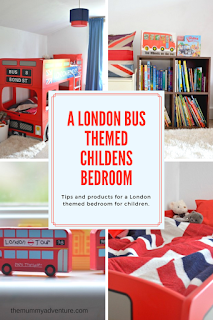 London bus themed children's room, themummyadventure.com
